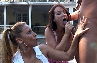 step moms work together to make joey cum
